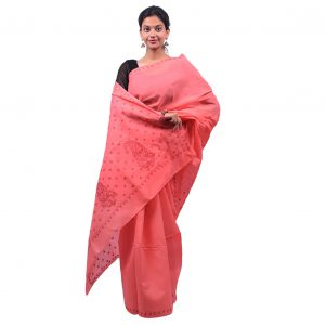 Lavangi Dark Peach Keel Palla Saree