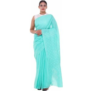 Lavangi Sea Green Keel Palla Saree