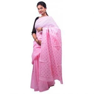 Lavangi Baby Pink Keel Palla Saree with Pink Threads