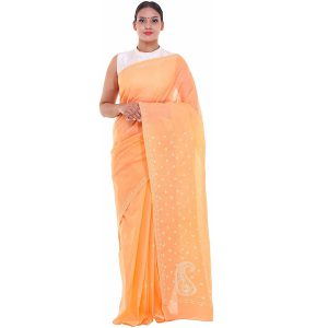 Lavangi Light Orange Keel Palla Saree